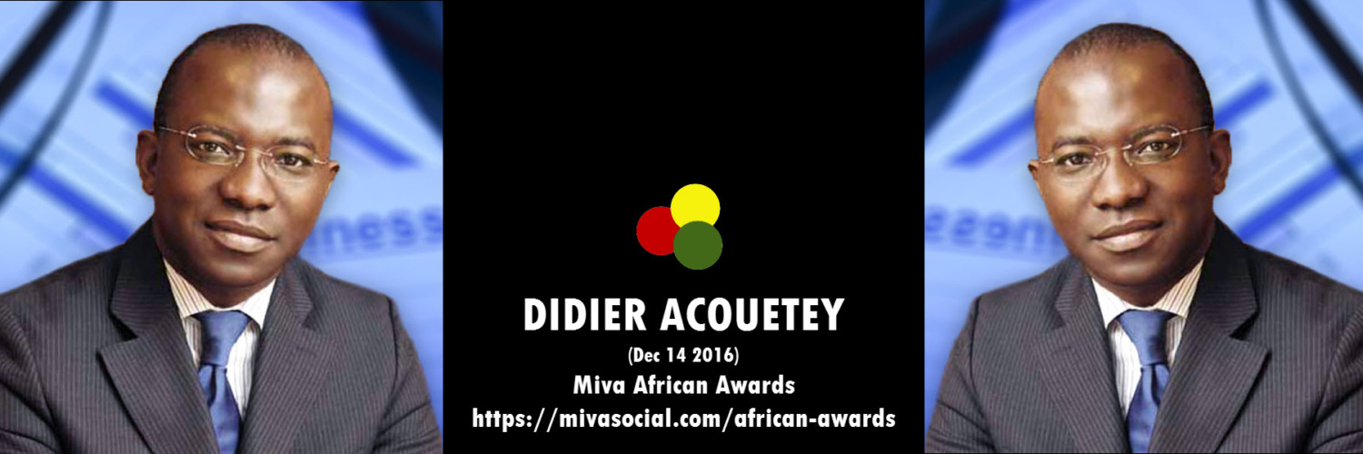 Didier Acouetey, Togolese Entrepreneur is winner of the African Person of the day award on Mivasocial