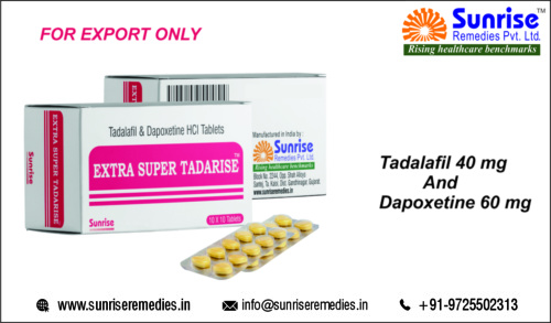 Extra Super Tadarise contains tadalafil and dapoxetine Products
